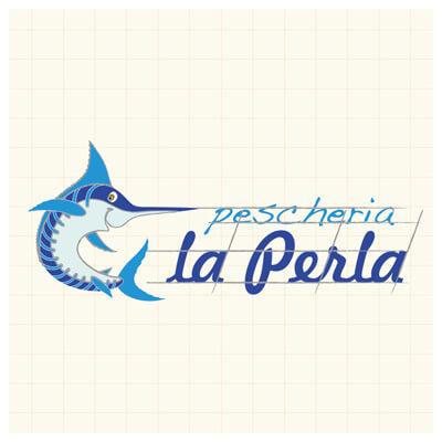 Restyling logo Pescheria La Perla