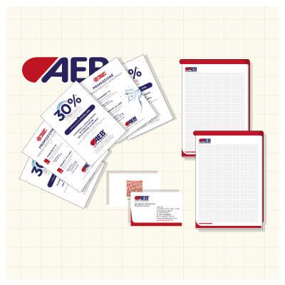 Corporate identity per AEB