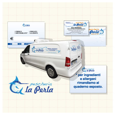 Corporate identity per Pescheria la Perla