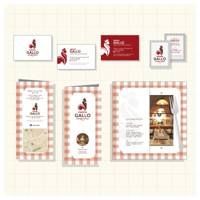 Corporate identity per Trattoria Gallo